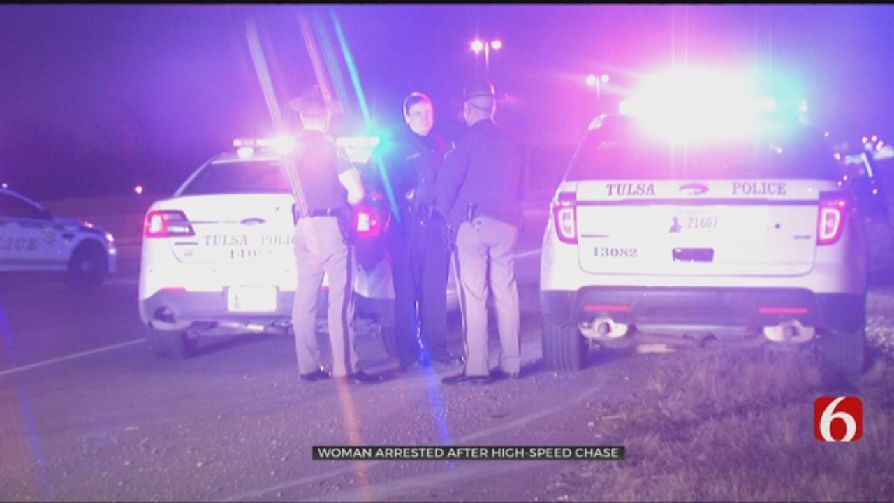 High Speed Chase Ends Near 169 And I-244