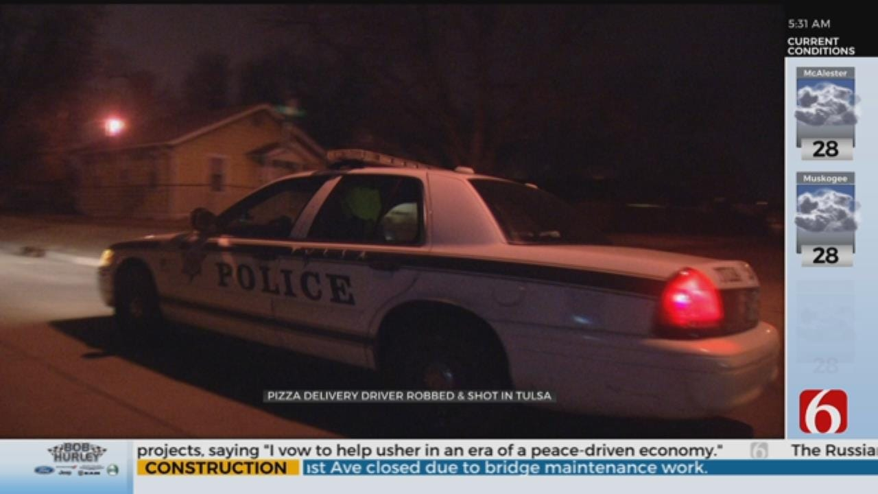 Tulsa Pizza Delivery Driver Shot And Robbed