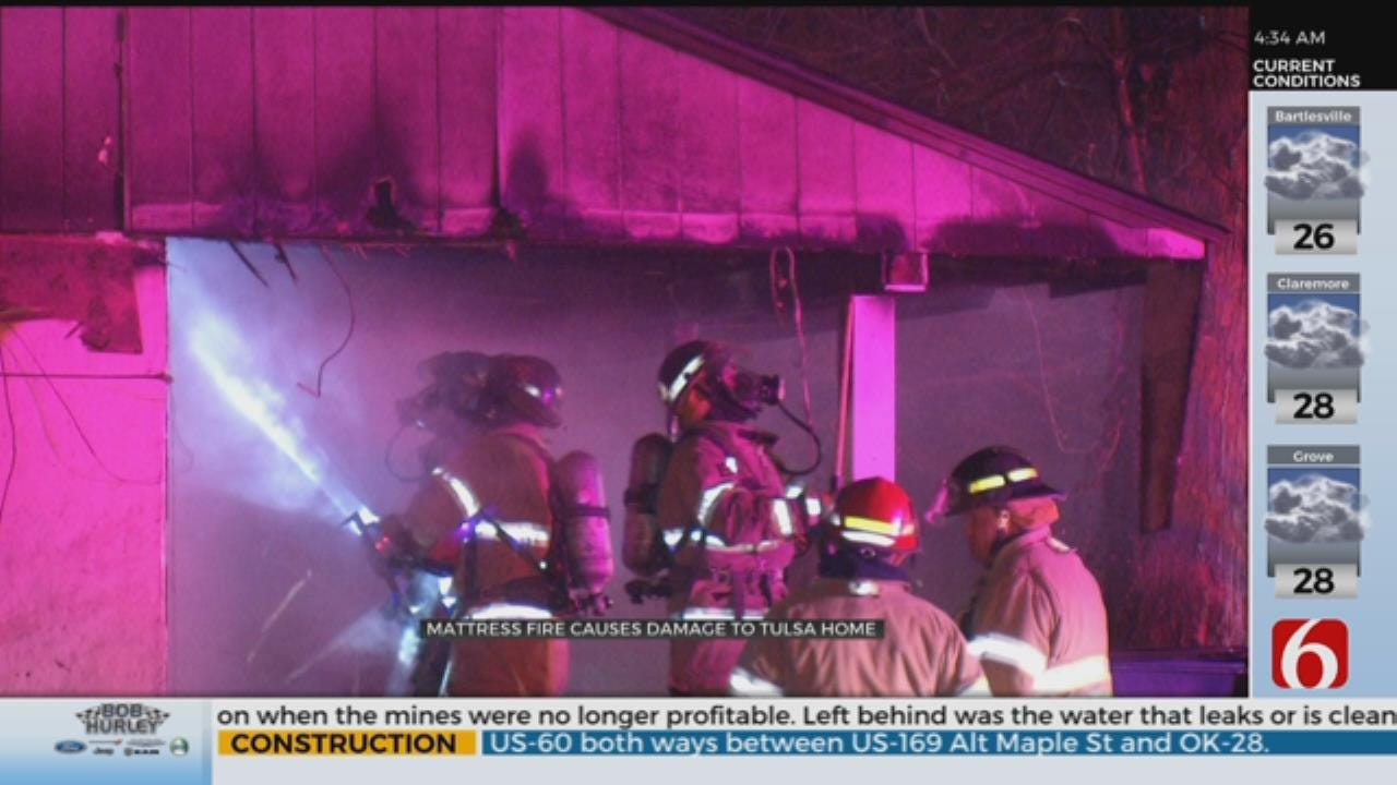 Tulsa House Catches Fire