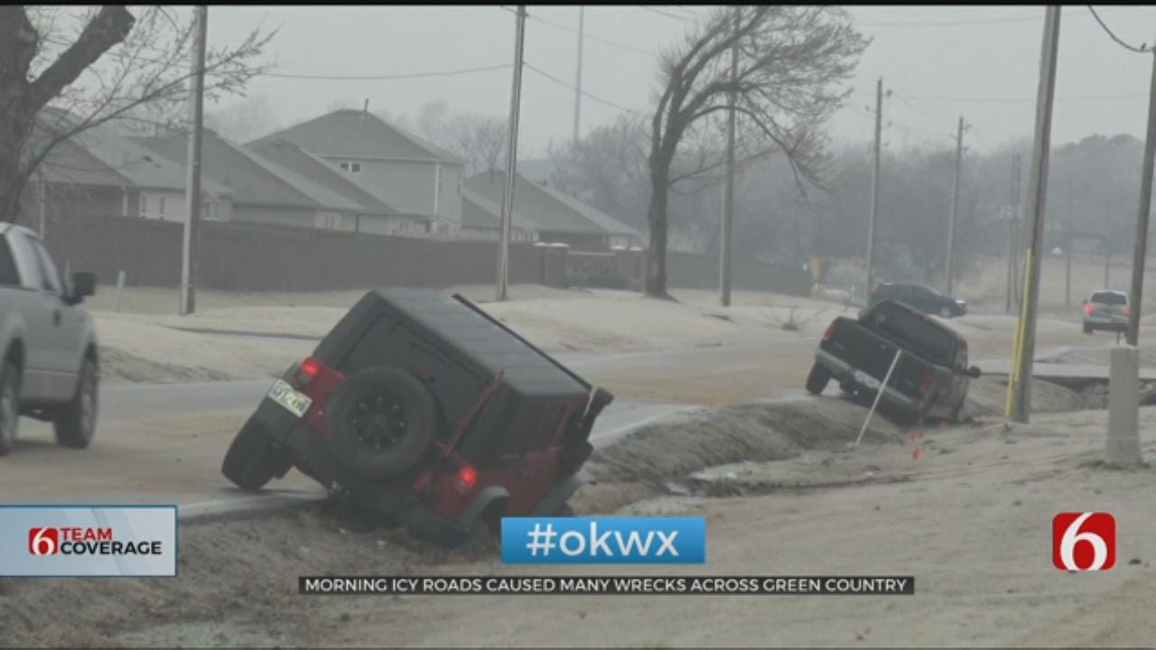 Icy Conditions Lead To Several Wrecks In Northeast Oklahoma