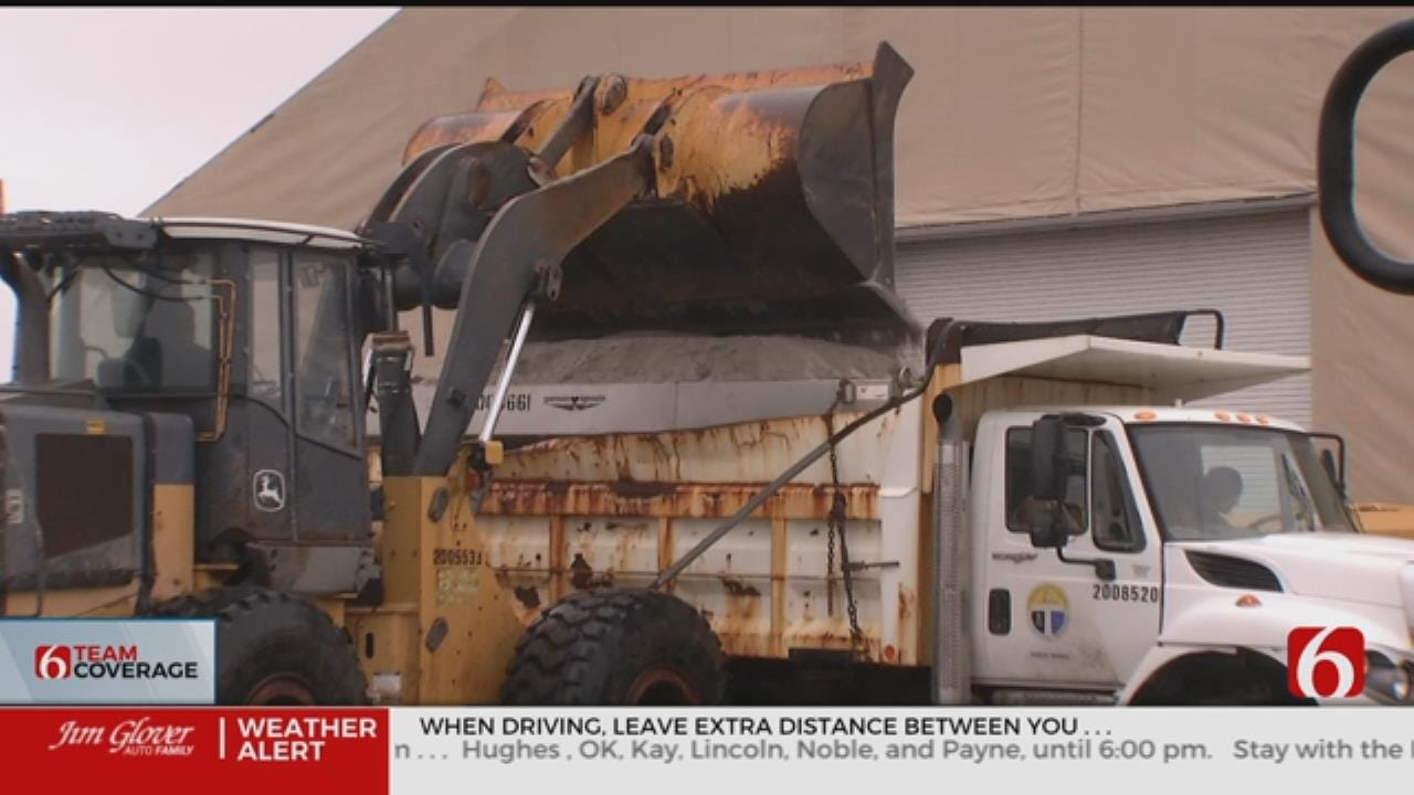 Tulsa City Crews Treating Roads, On Standby for Weather