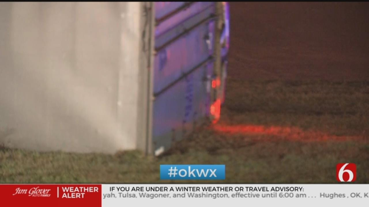 Truck Carrying Toilet Paper Overturns In Tulsa