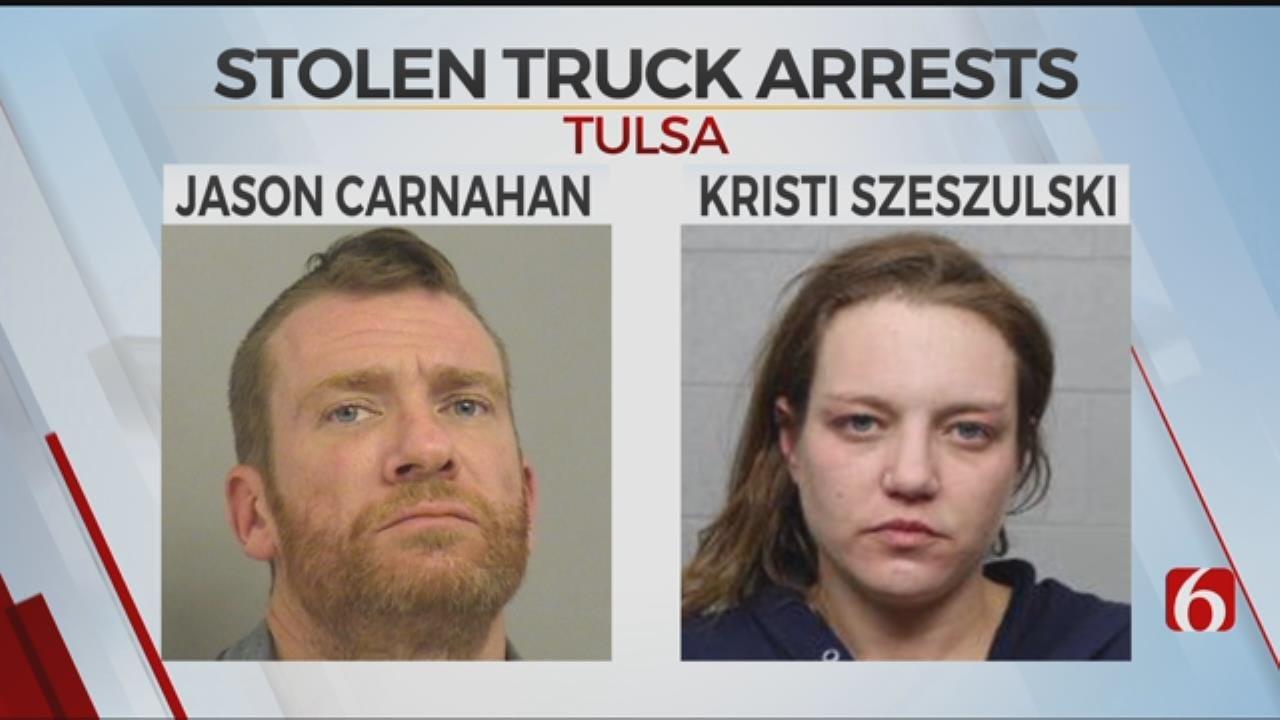 Tulsa Police Arrest Two In Stolen Truck