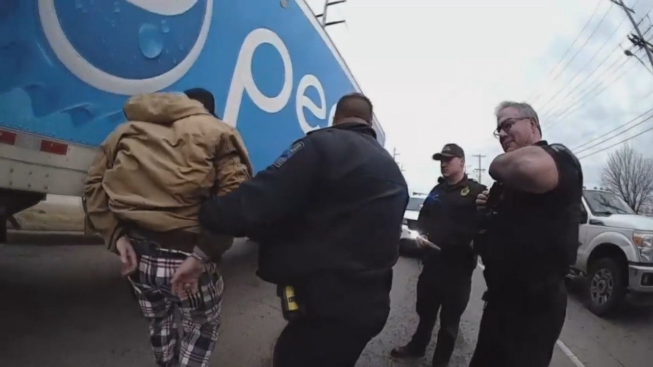 WATCH: Tulsa Police Video Of Pepsi Truck Theft