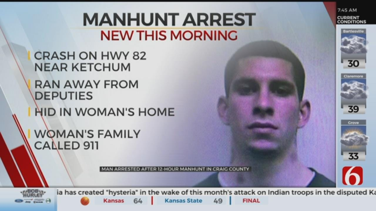 1 Person In Custody After Craig County Manhunt