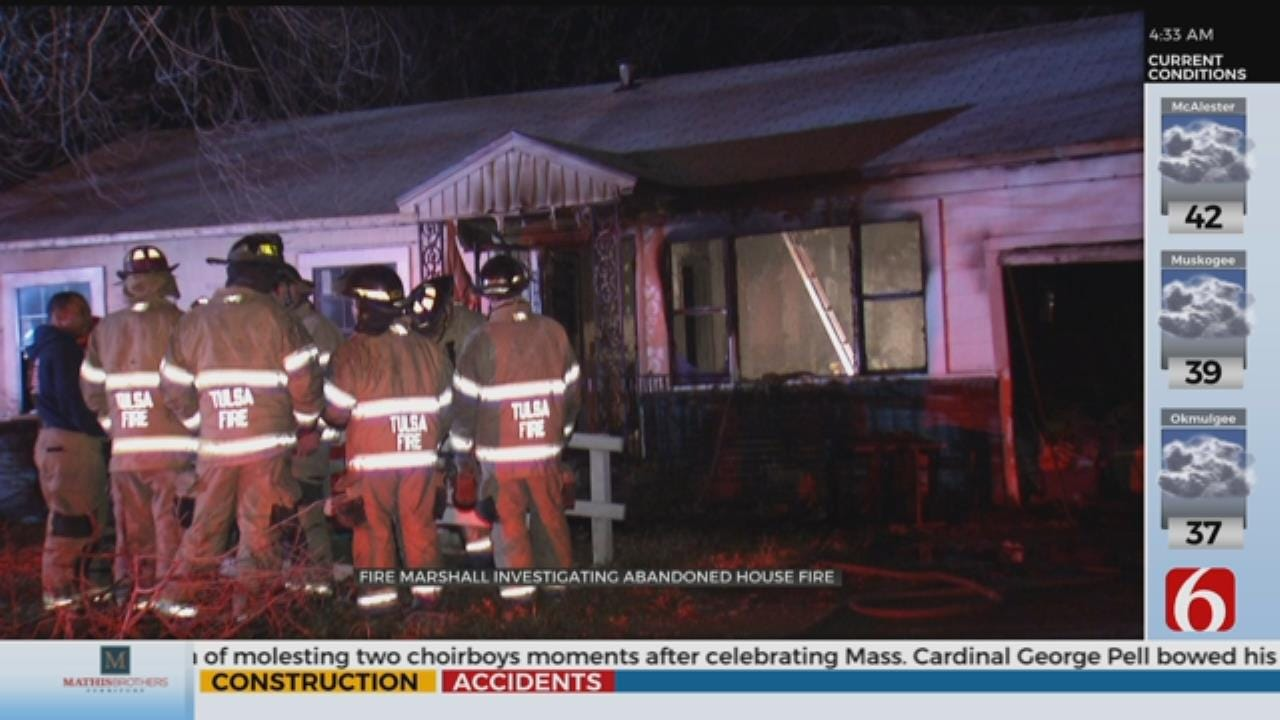 Vacant Tulsa House Catches Fire