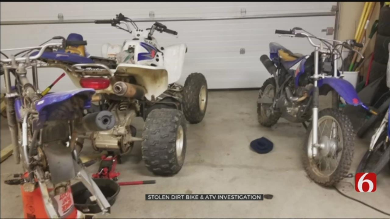Dirt Bike And ATV Stolen From Rogers County Family