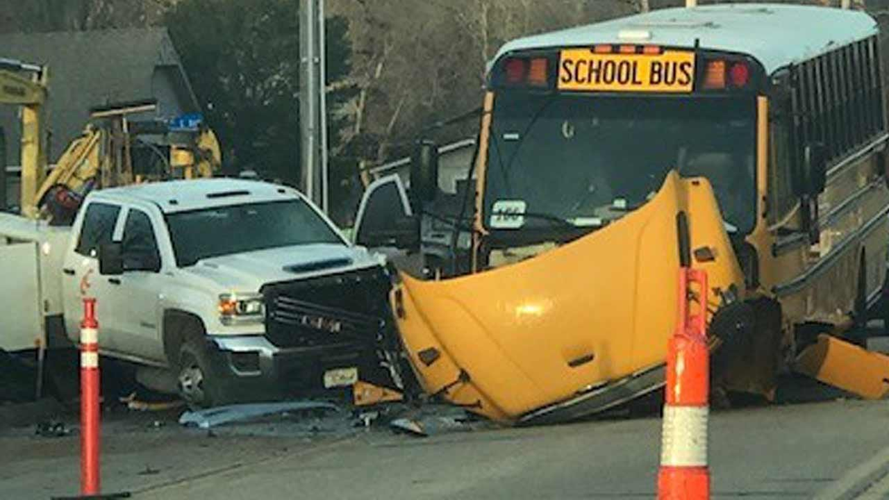 Joseph Holloway: Broken Arrow School Bus Damaged In Wreck