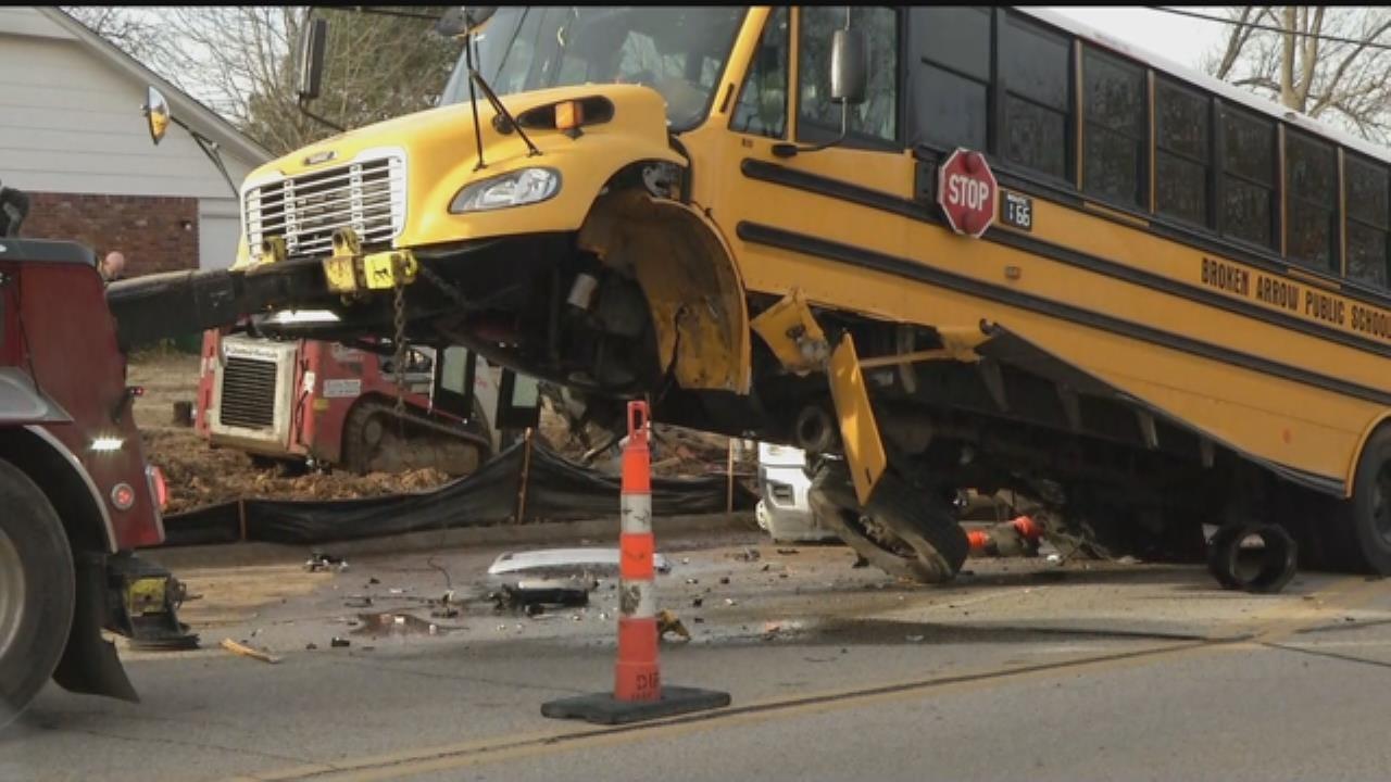Broken Arrow School Bus Involved In Crash