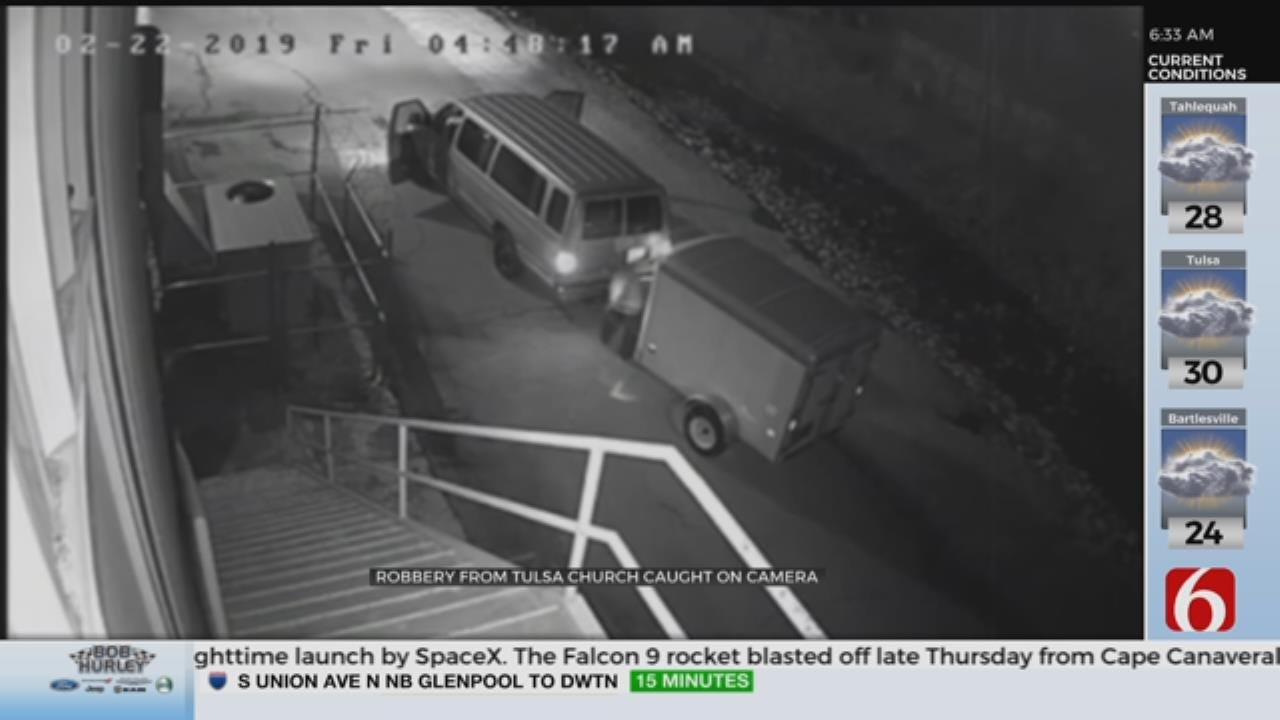 Tulsa Church Asking For Help After Trailer Is Stolen