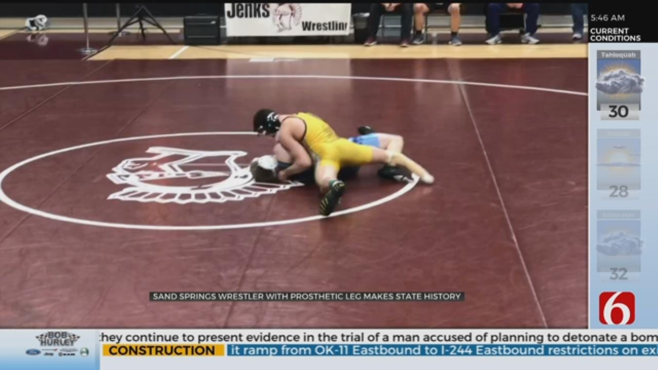 Sand Springs Wrestler Places At Historical Tournament Appearance