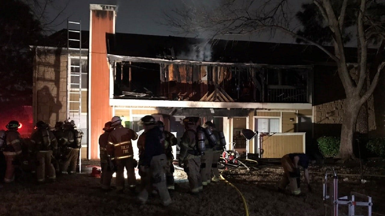 Several People Displaced By Tulsa Apartment Fire