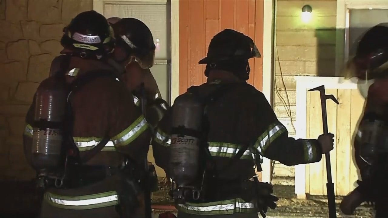 WATCH: Tulsa Firefighters At Avondale Apartments Fire