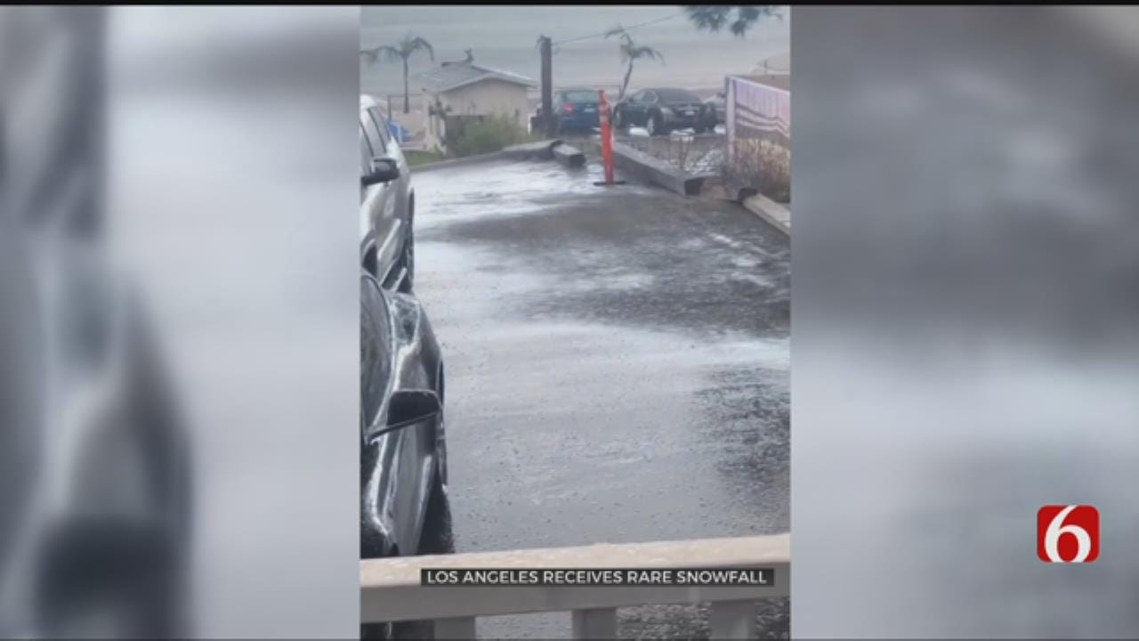 'Why Is The Rain White?' Asks Malibu Resident Upon Seeing Rare Snowfall