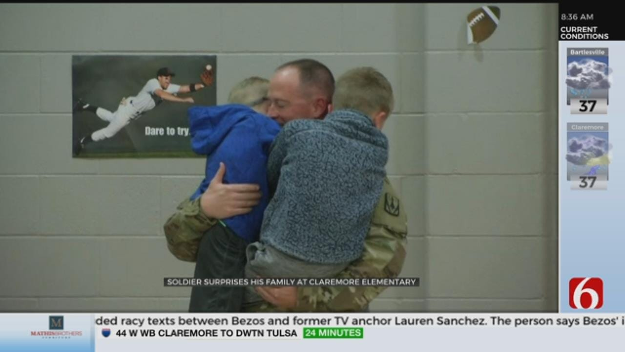 WATCH: Soldier Surprises Kids At School Assembly