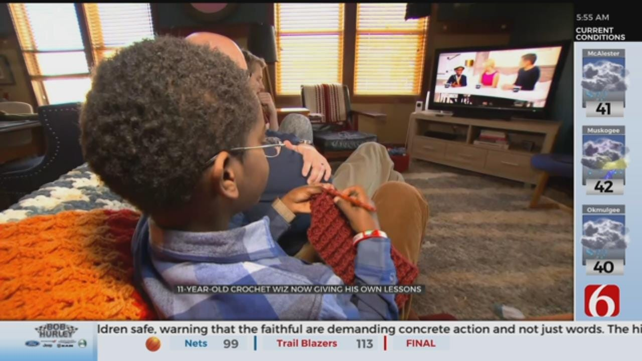 Crocheting Child Gives Lessons On Social Media