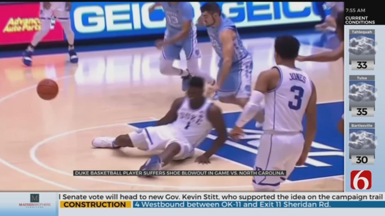 Duke Basketball Star Hurt As Shoe Explodes