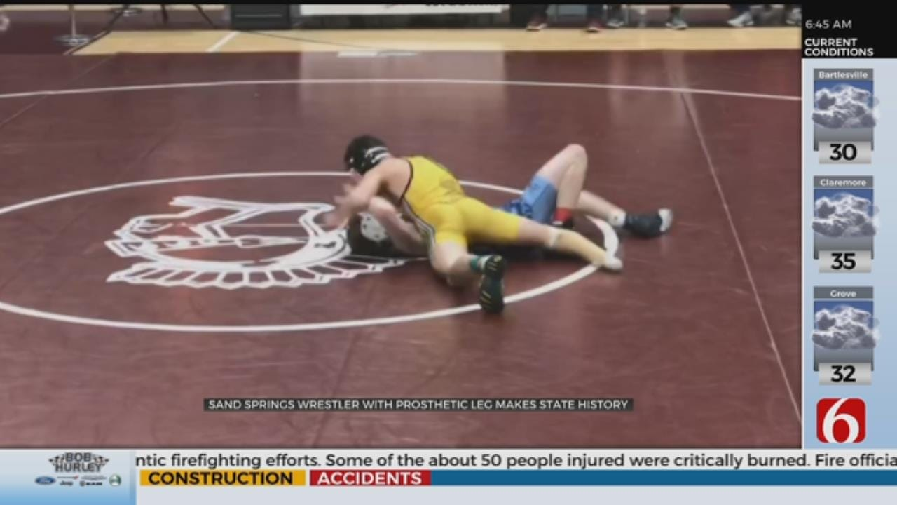 Sand Springs Wrestler Makes Historical Appearance At Oklahoma State Tournament