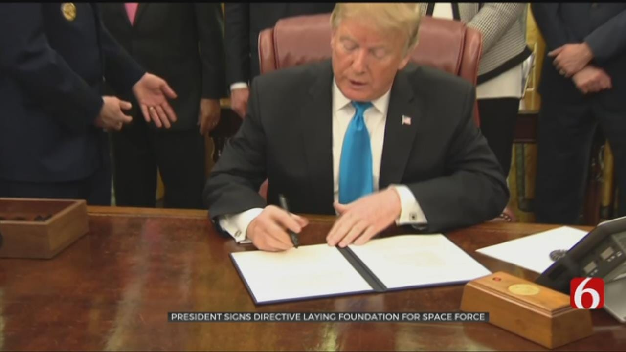 President Trump Signs Space Force Directive