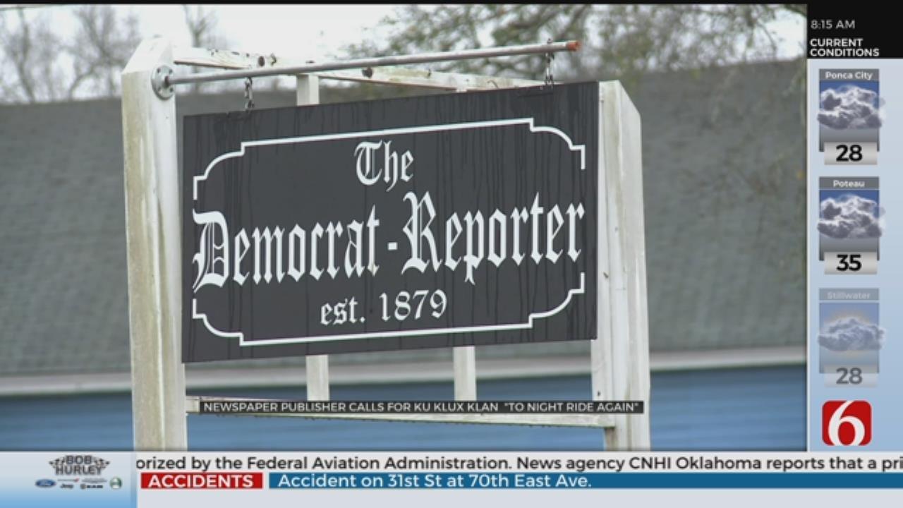 Alabama Newspaper Publisher Suggests KKK Should Lynch Democrats In Washington
