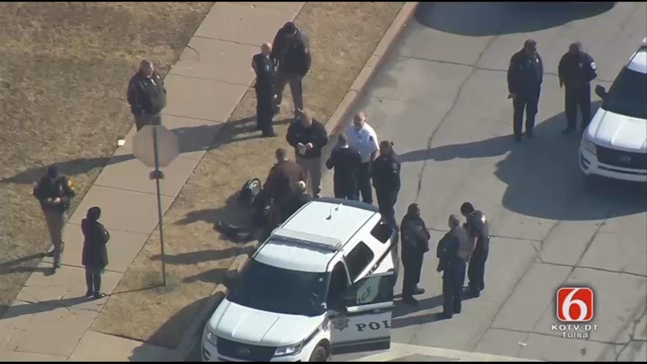 WATCH: Tulsa Police Arrest Suspect At Elementary School