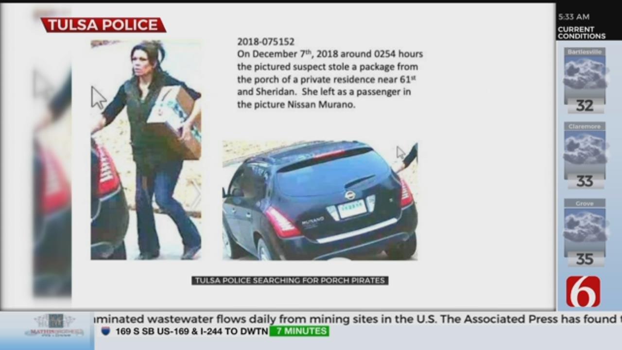 Tulsa Police Search For Porch Pirates