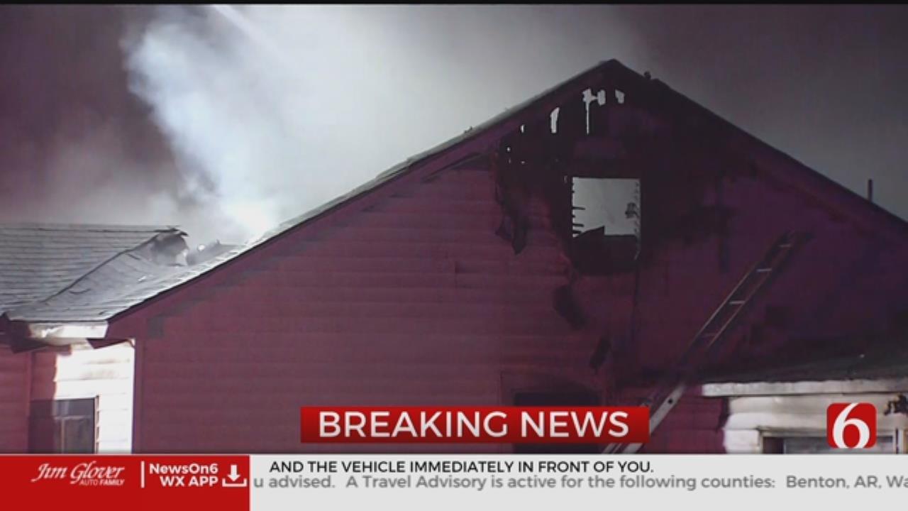 Sapulpa Crews Battle House Fire