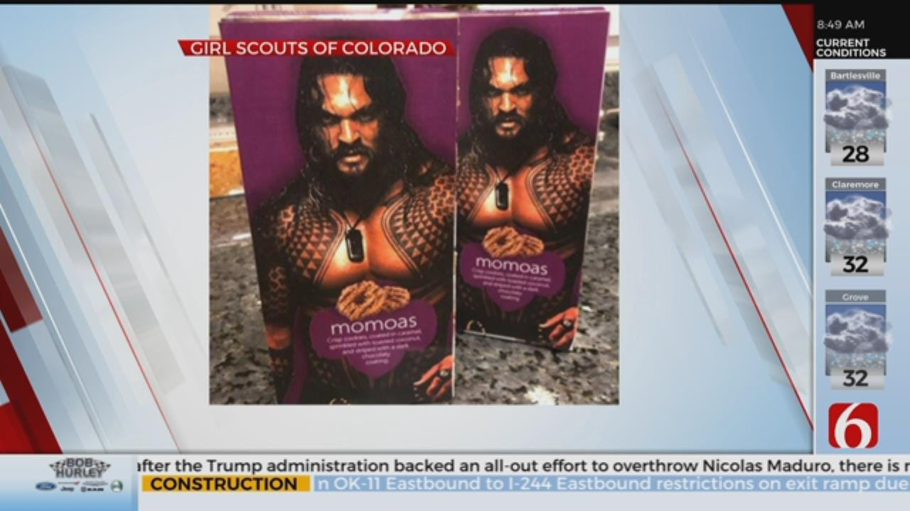 Colorado Girl Scout Uses Jason Momoa To Sell Cookies