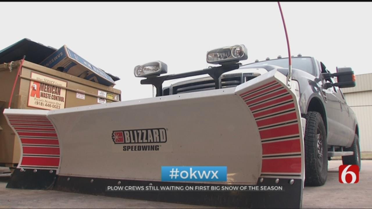 Snow Plow Drivers Prepare For Winter Weather