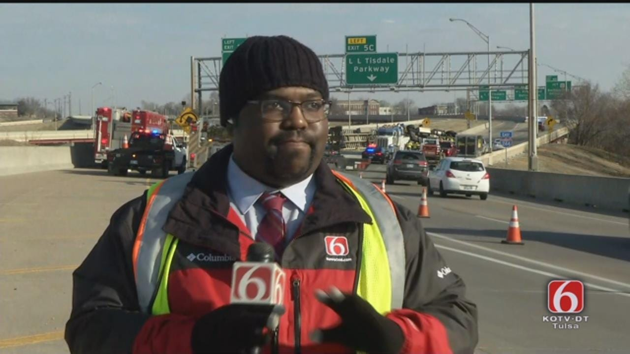 Joseph Holloway Update On Tulsa Overturned Semi At Highway 412 Exit