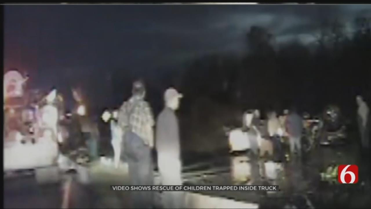 OHP Troopers Rescue Children From Overturned Truck In Water