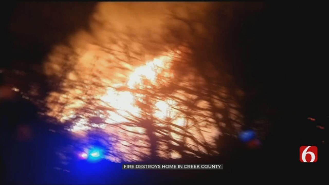 Creek County Family Forced To Start Over After Large House Fire