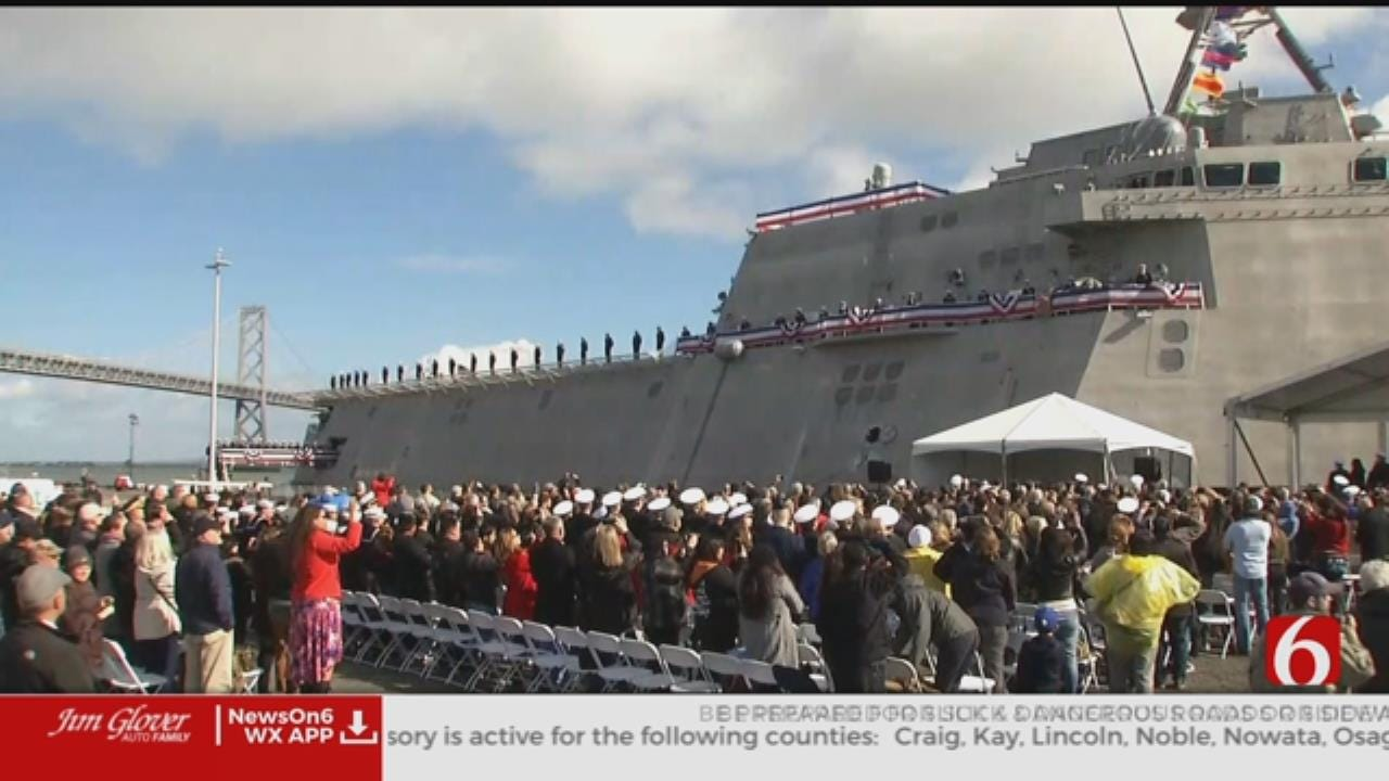 Oklahoma Dignitaries Travel To California For USS Tulsa Commissioning Ceremony