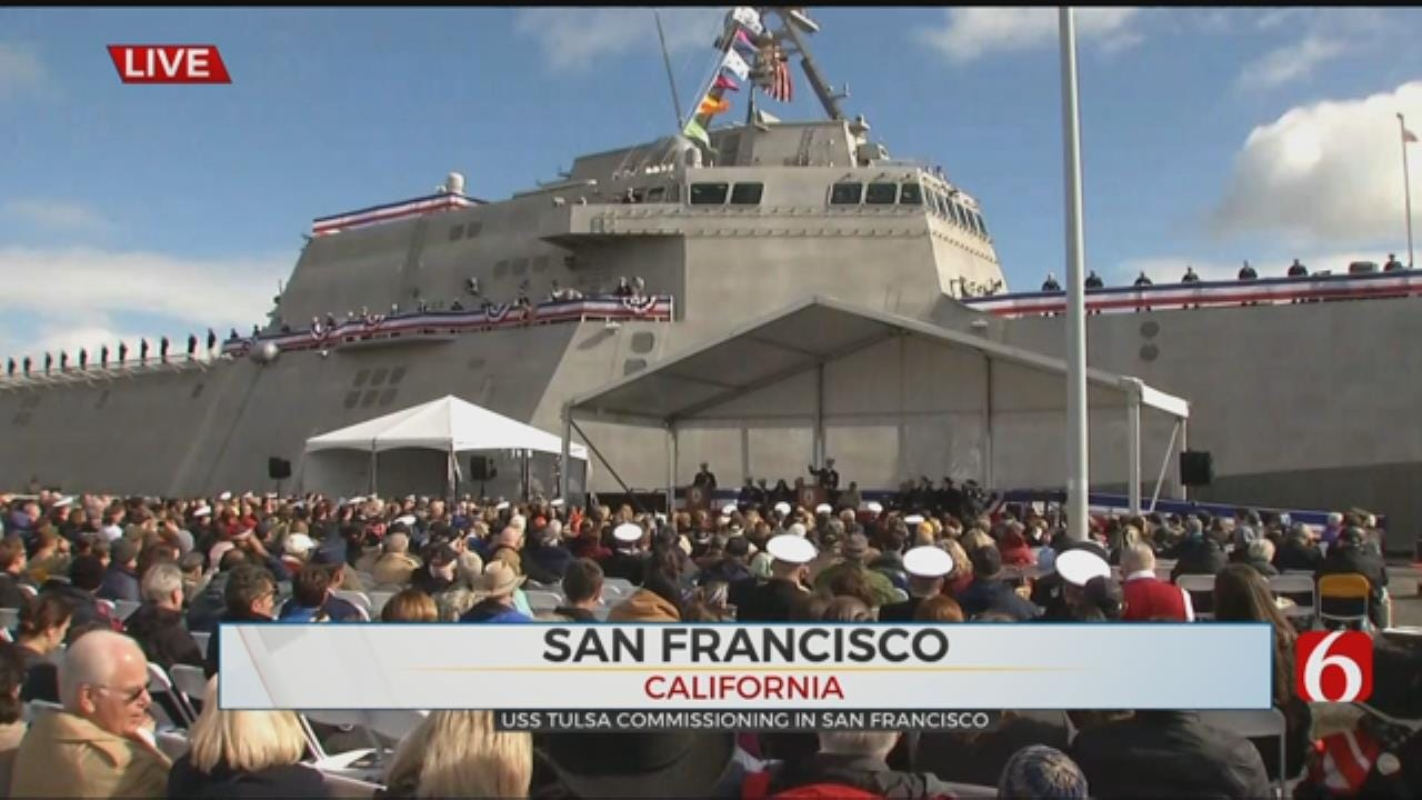 USS Tulsa Commissioned In Ceremony In San Francisco