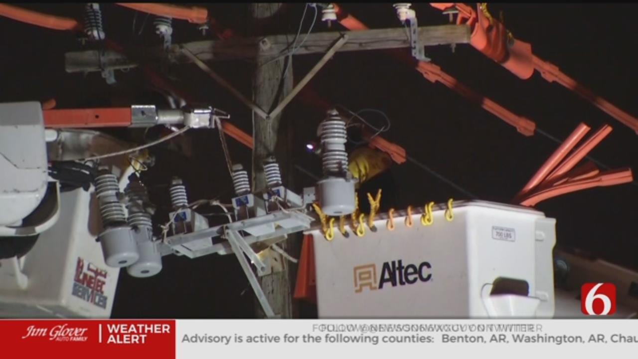 DUI Suspect Crashes Into Utility Pole In Tulsa