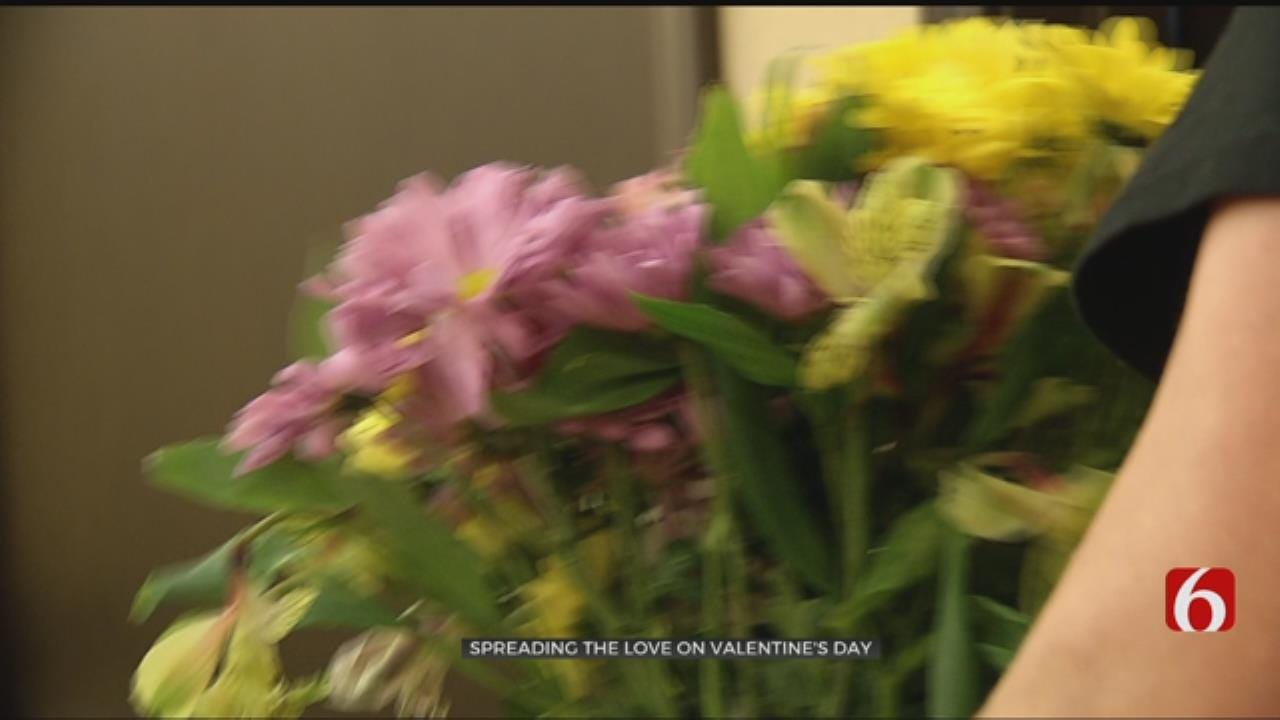 Nursing Home Residents Receive Flowers For Valentines Day