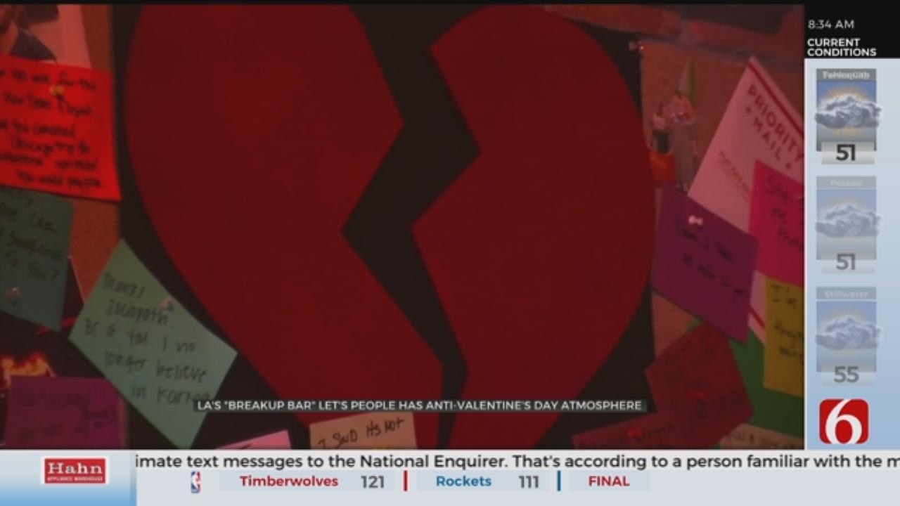 LA 'Break Up Bar' Offers Valentine's Day Alternative