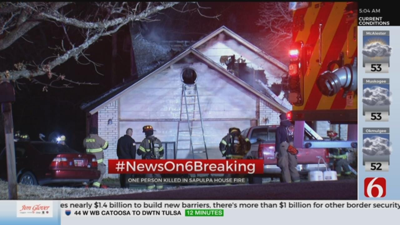 1 Dead In Sapulpa House Fire