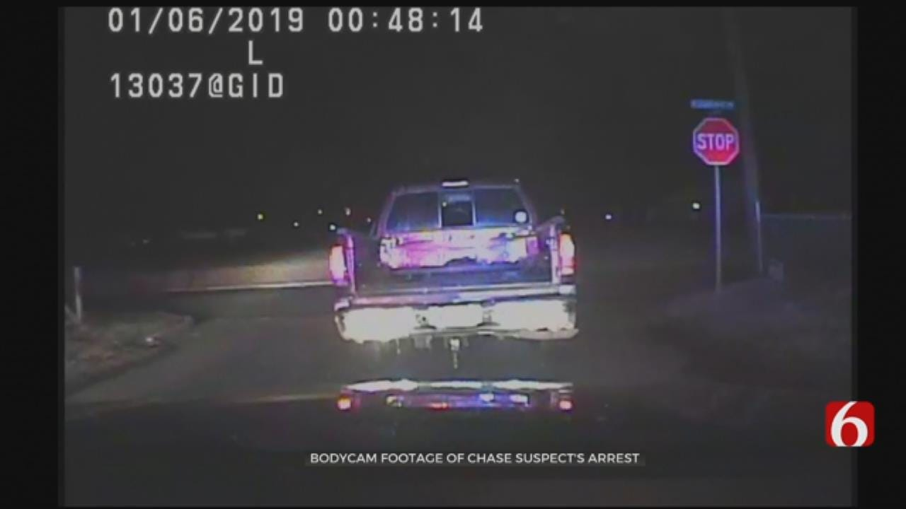 Bodycam Shows The Moment A Tulsa Chase Suspect Surrendered