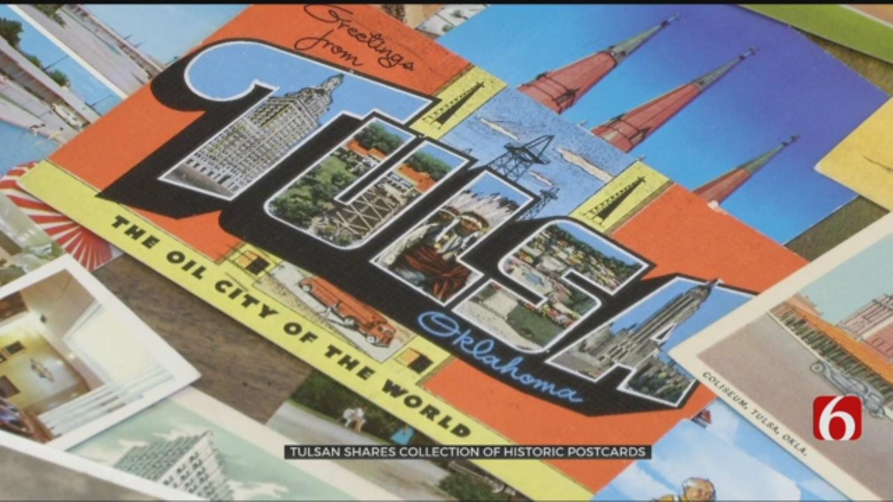 Famous Tulsan Shows Off Vintage Post Card Collection