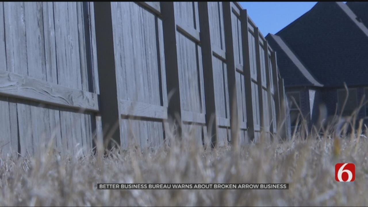 Better Business Bureau Issues Warning About Broken Arrow Fencing Company