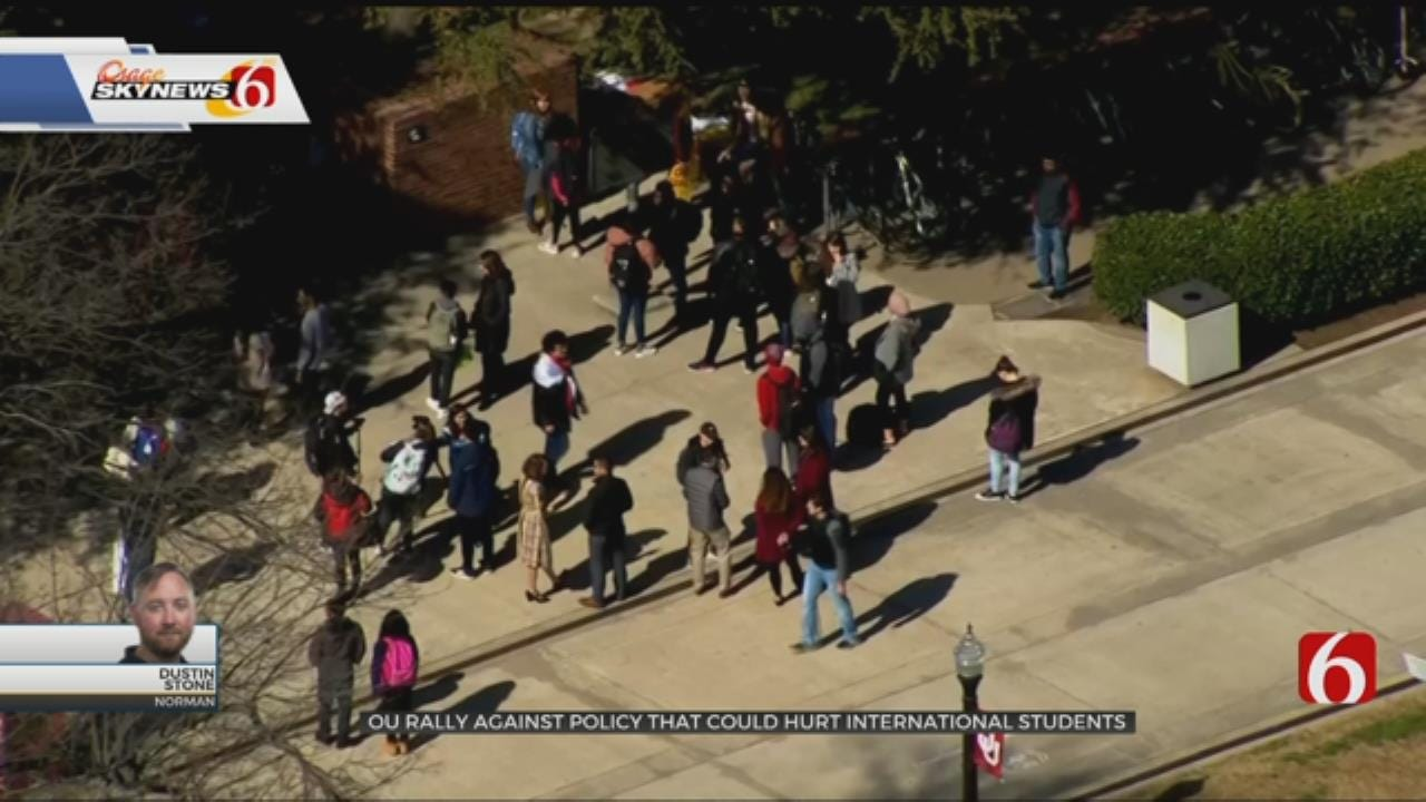 OU Students Rally Against Policy That May Deport International Students