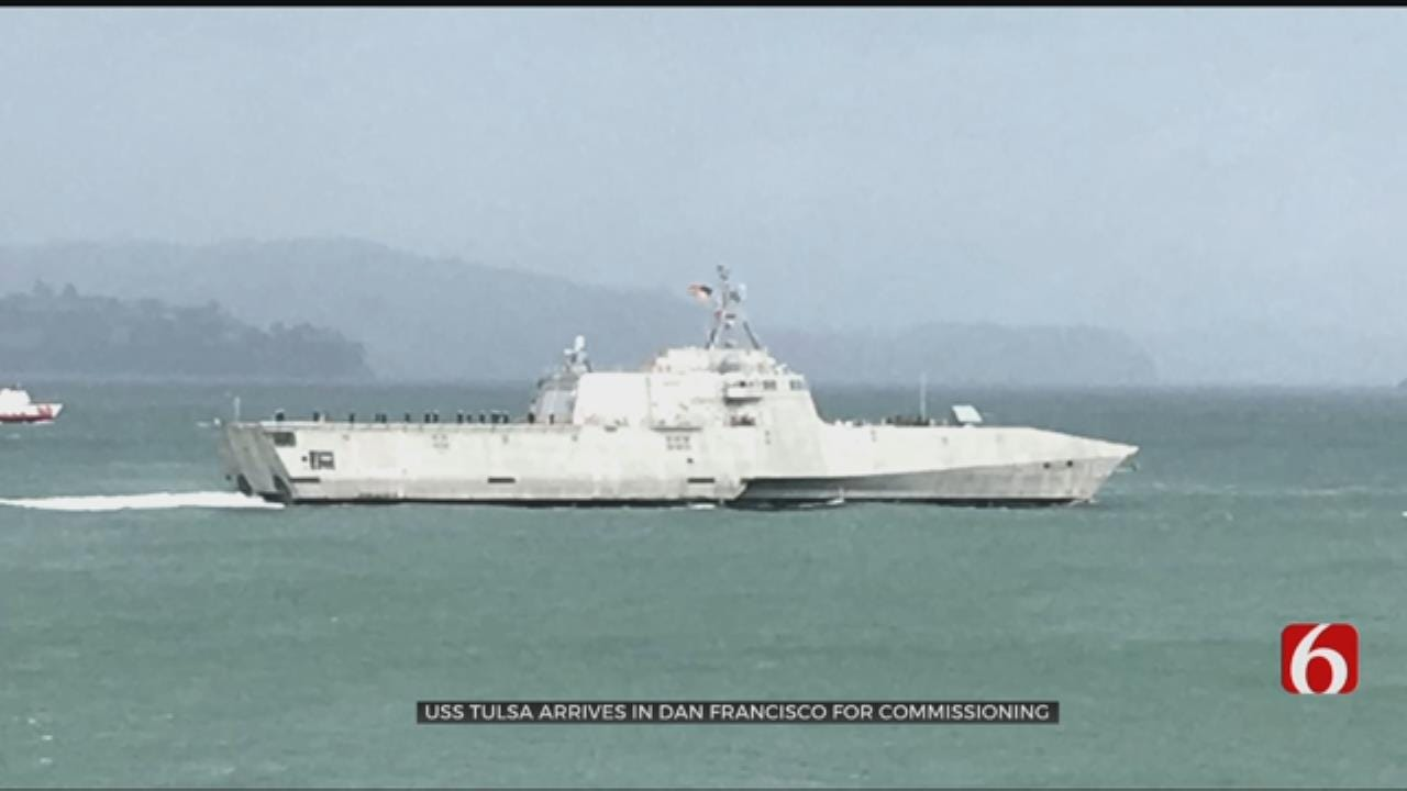 USS Tulsa Arrives In San Francisco For Commissioning