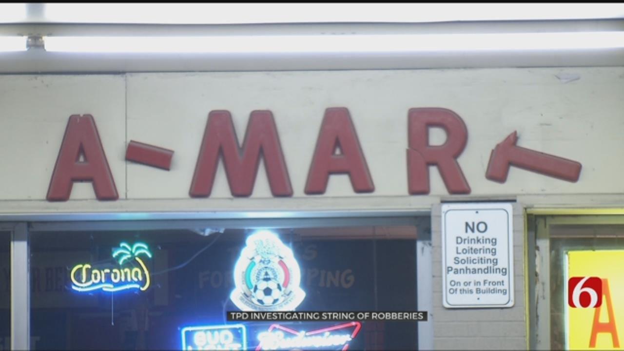 Tulsa Police Investigate Overnight Robberies