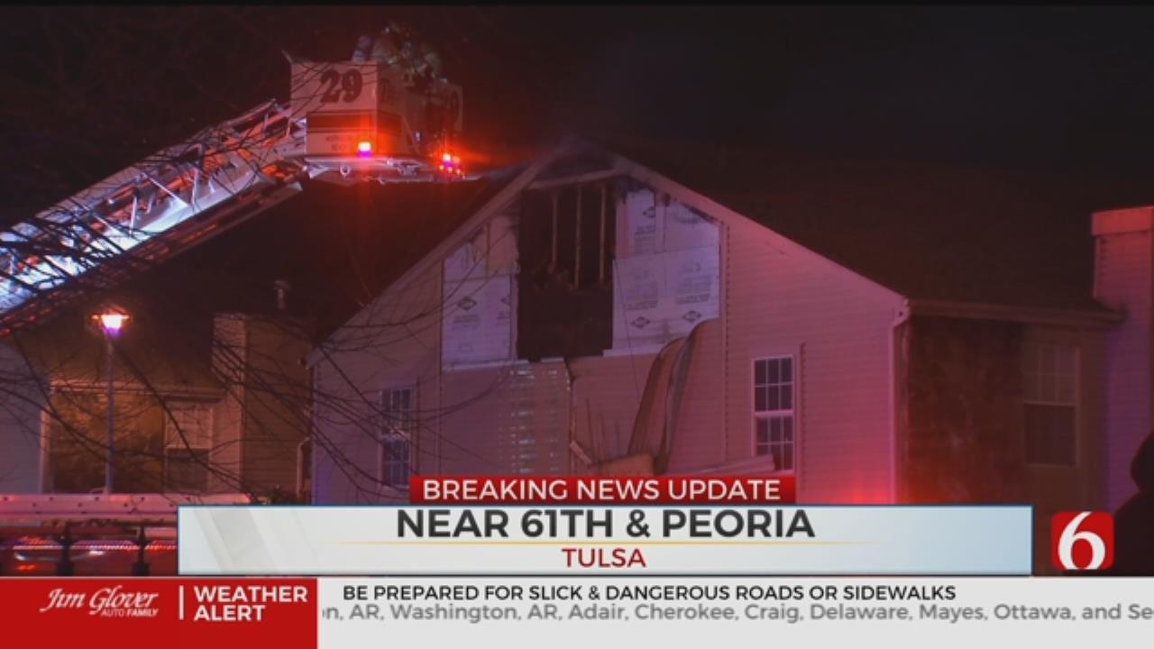 One Taken To Hospital After Tulsa Apartment Blaze