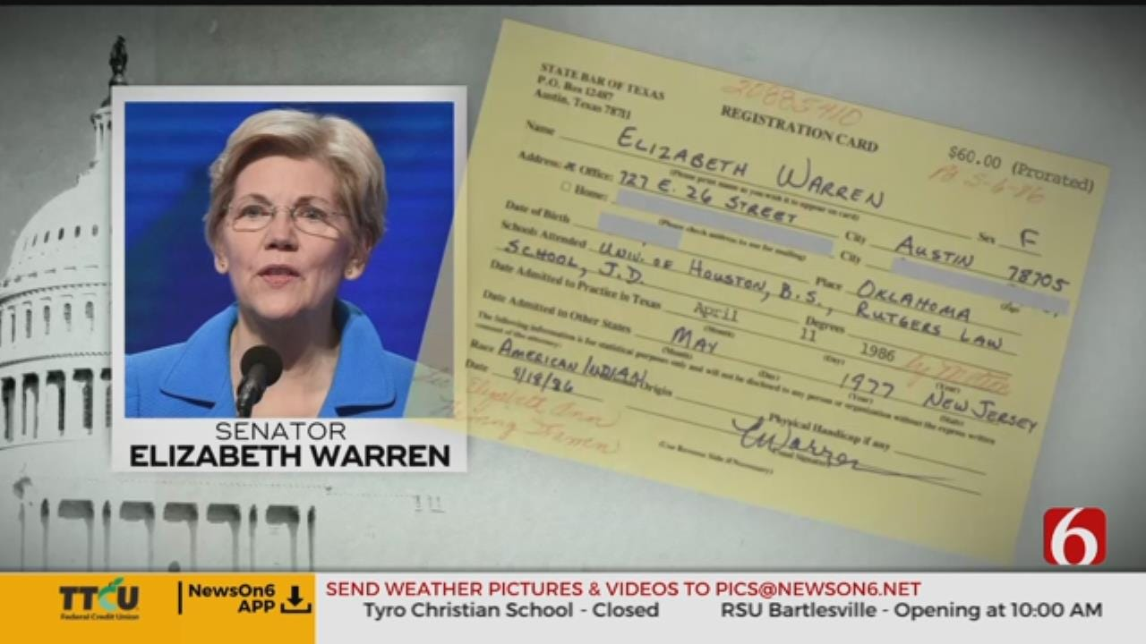 Sen. Elizabeth Warren Apologizes For Claiming She Was 'American Indian'