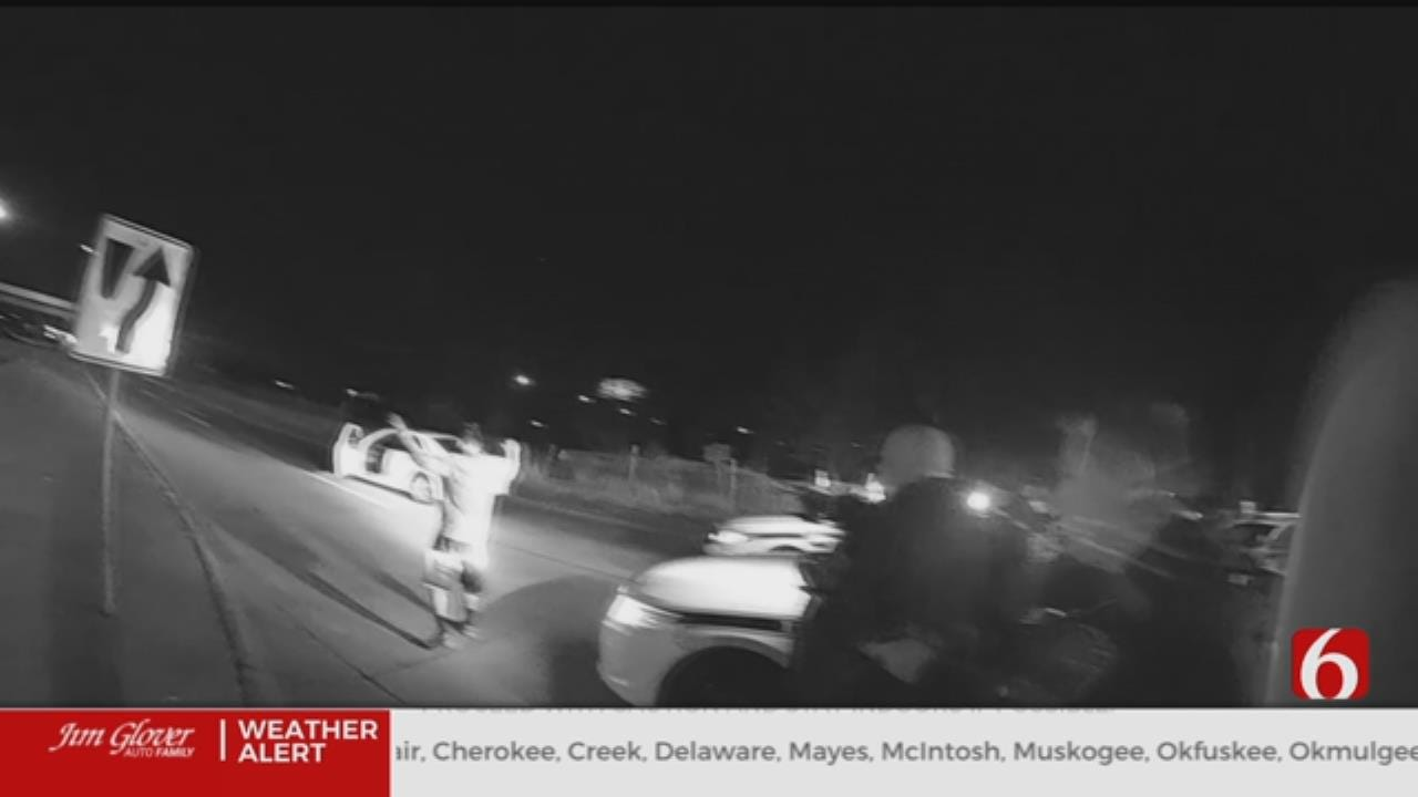Video Shows Arrest Of 2 Tulsa Teens After Police Chase