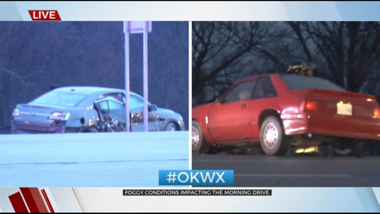 Numerous Wrecks Reported Around Tulsa