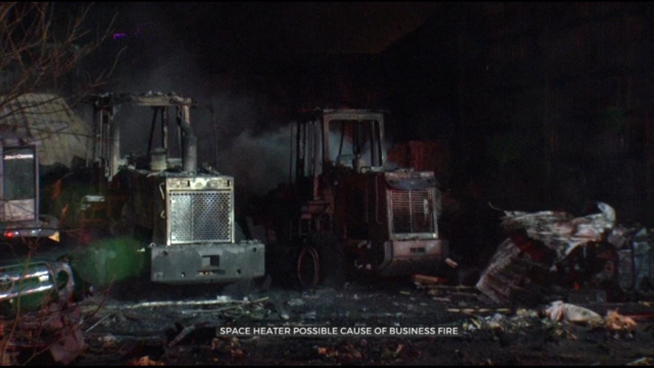 Fire Damages Sand Springs Gravel Company