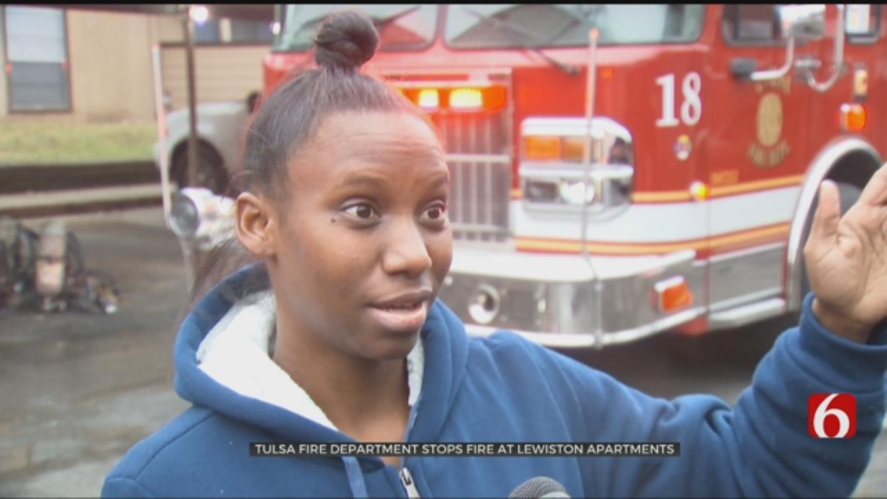 Fire Damages Unit At Tulsa Apartments